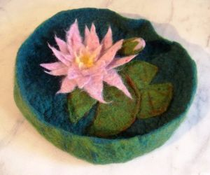 Felted Water Lily Vessel